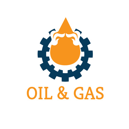 oil and gas industry: oil and gas industry vector design template Illustration