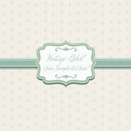 editable sign: Illustration elegant frame on pattern .Vector  Illustration