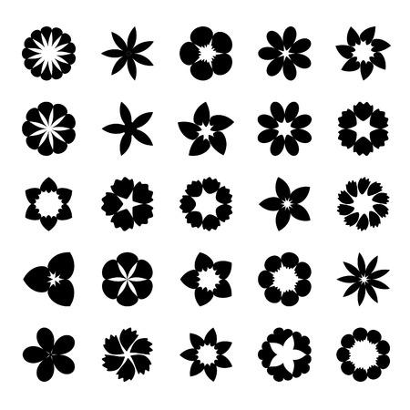 Set di appartamento icona flower.Vector