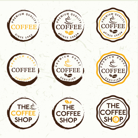 joe: Set of vintage retro coffee labels Illustration