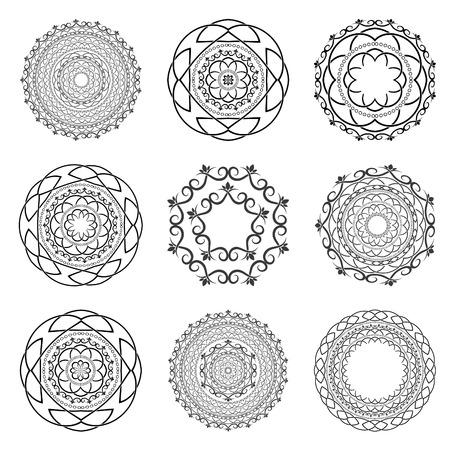 Set Mandalas. Round Ornament.Vector Vector