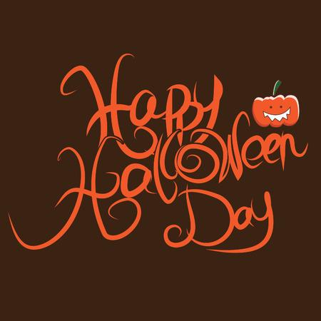 Illustration Happy Halloween  Vector