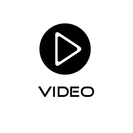 Play video button vector design template Vector