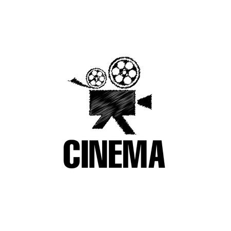camera film: sketch film camera vector design template Illustration