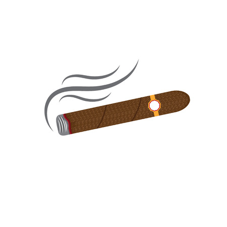 havana cigar: cigars vector illustration isolated on white background Illustration