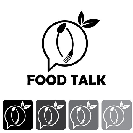 food talk illustration and icon set Vector