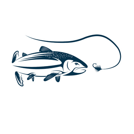coho: salmon and lure design template