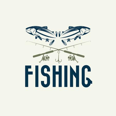 jig: vintage fishing design template Illustration