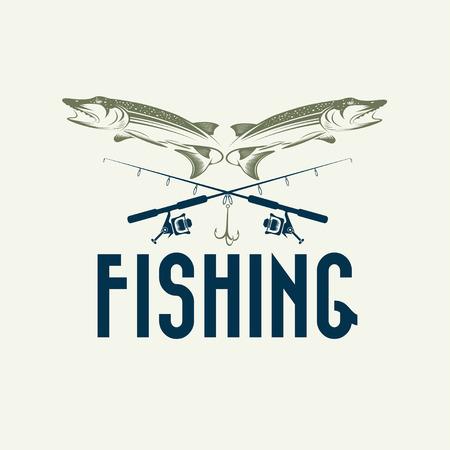 largemouth bass: vintage fishing design template Illustration