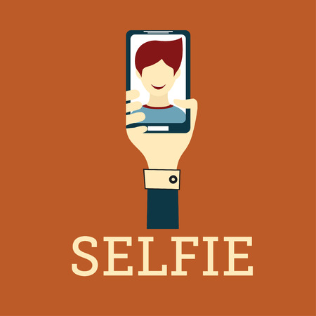 Selfie Photo flat design Vector