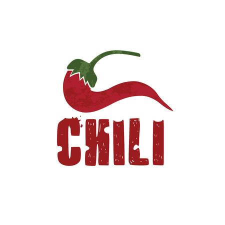 grunge chili pepper vector design template