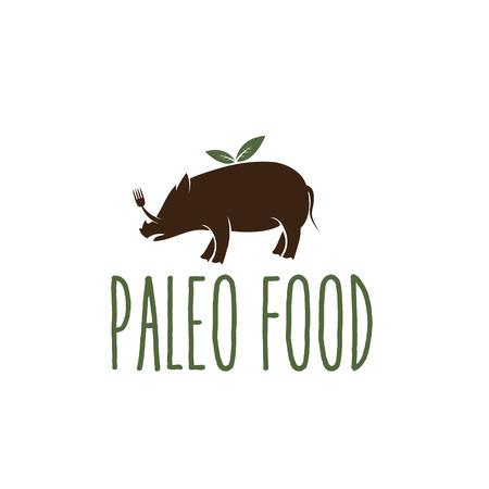 glacial: paleo food hog vector design template