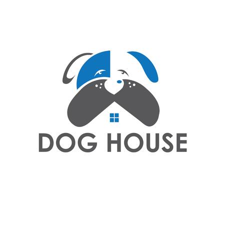 dog house vector design template Vector