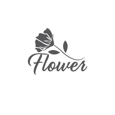 abstract flower vector design template Vector