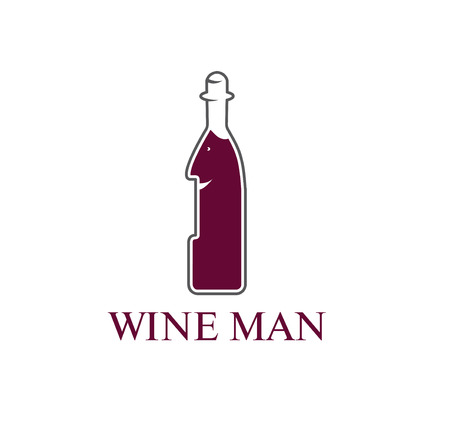 wine man concept vector design  template Vector