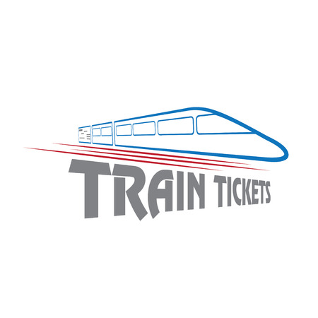 high speed railway: train tickets vector design template