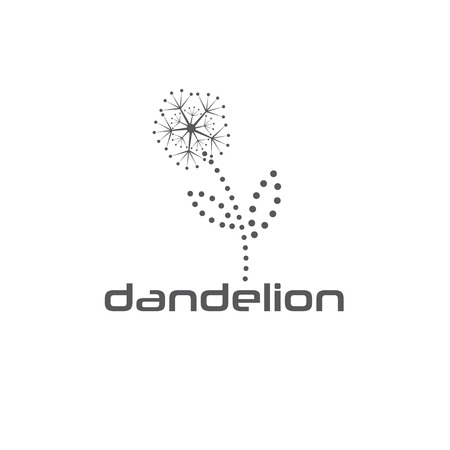 cyber dandelion vector design template Vector