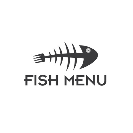 barebone: fish menu vector design template