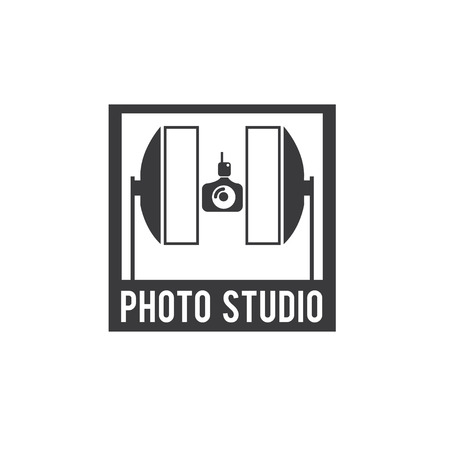 strobe light: photo studio vector design template