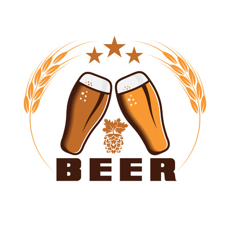 beer emblem vector design template Vector