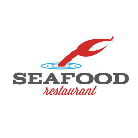 boil: seafood restaurant illustration with claw and fish Illustration