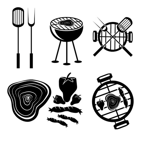BBQ grill labels collection