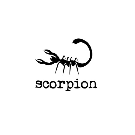 poison sign: abstract scorpion vector design template