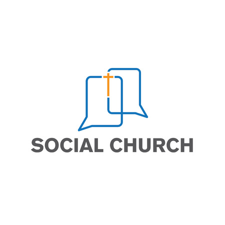 the catholic church: social church vector design template Illustration