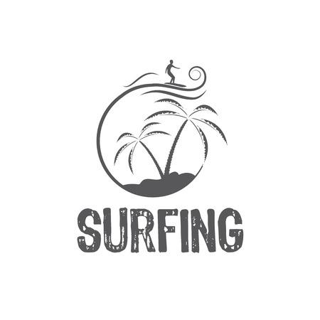 surfing vector design template Vector