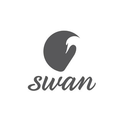 swan abstract illustration Vector