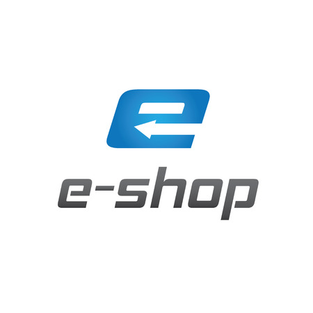 e commerce icon: e shop vector design template