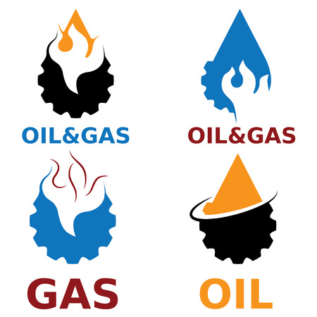 oil and gas industry: oil and gas industry vector design elements