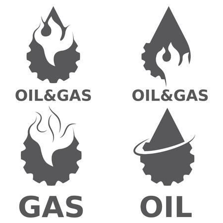 oil and gas industry: oil and gas industry vector design elements