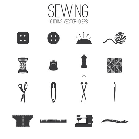 Illustration set icon of sewing .Vector Vector