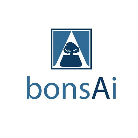 """sconce: Ilustraci�n del resumen icono de bons�is en el espacio negativo en la letra """"A"""". Vector"""