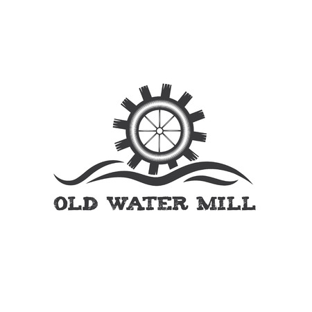 molino de agua: molino de agua de �poca antigua ilustraci�n