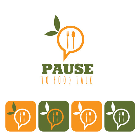 pause to food talk concept and icon set Vector
