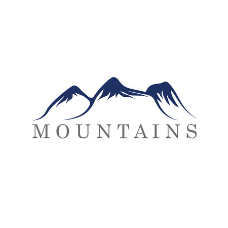 mountains abstract illustration Vector