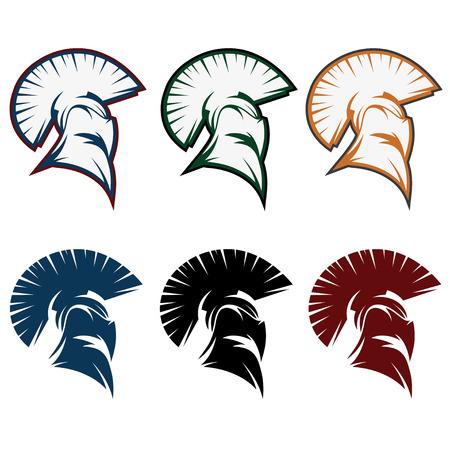 spartan warrior set vector design template Vector