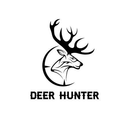 deer: deer hunter vector design template Illustration