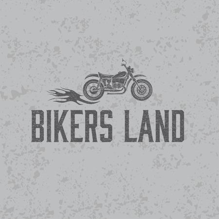 Motorrad-Design-Vorlage Für T-Shirt Lizenzfrei Nutzbare ...