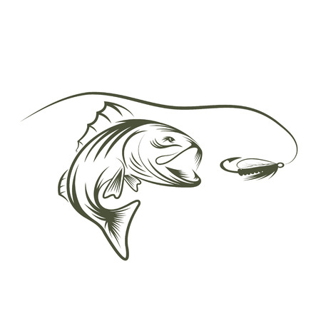 Bass And Lure Design Template Royalty Free Cliparts, Vectors, And ...