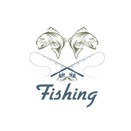carp fishing: vintage fishing vector design template