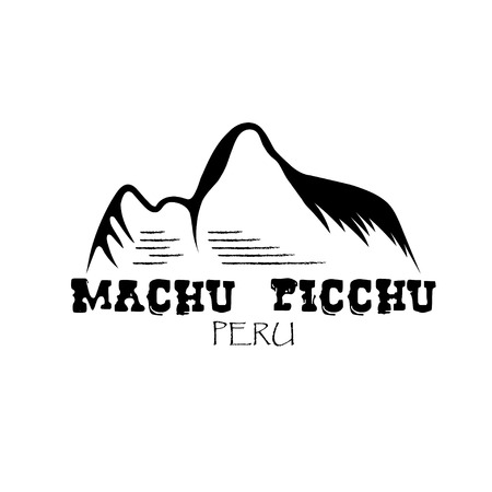 picchu: Machu Picchu mountain of Peru vector design template