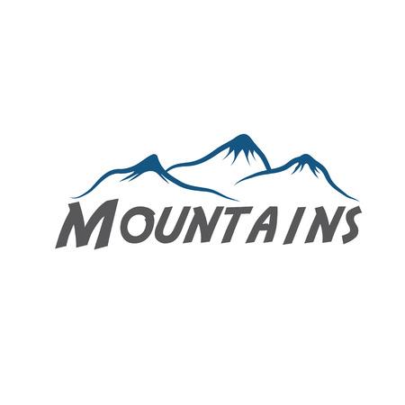 winter range: mountains abstract illustration Illustration