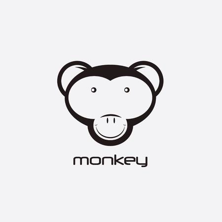 emotions faces: monkey vector design template Illustration