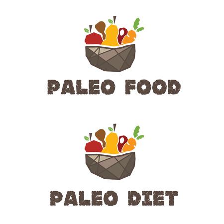 Illustration of menu paleo diet. Vector Vector