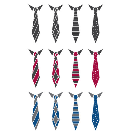 Illustration set of ties. vector