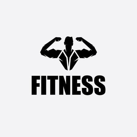 defined: Bodybuilder Fitness Model silhouette vector design template