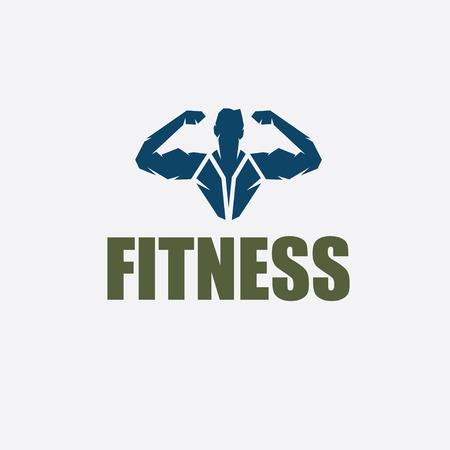 body building: Bodybuilder Fitness Model silhouette vector design template